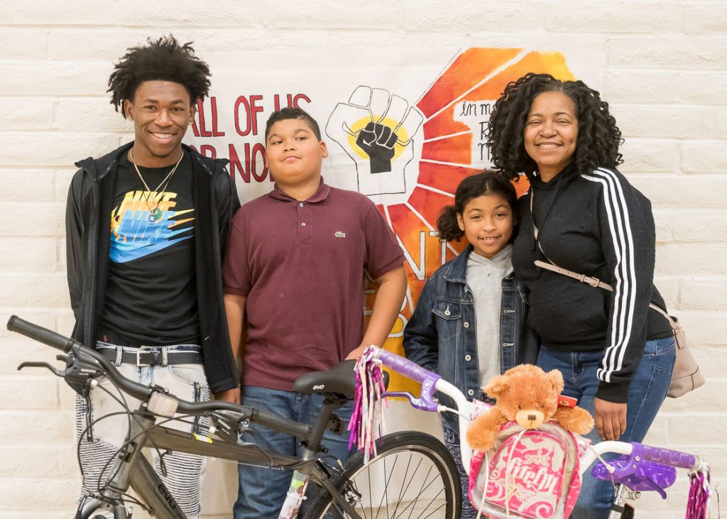 Annual Bike Give-Back by All Of Us or None, an organization of previously incarcerated people, with a lot of other volunteer help.  Every year AUON gives away bicycles to children of people currently incarcerated.